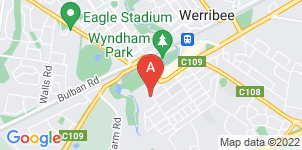 Google static map for Werribee Funerals