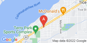 Google static map for Anderson Funeral Home