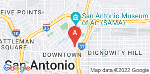Google static map for Alamo Funeral Home