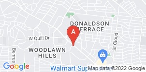Google static map for Hillcrest Funeral Home