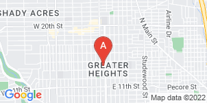 Google static map for Heights Funeral Home