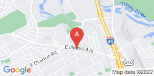 Google static map for Peaceful Rest Funeral Home, Dallas