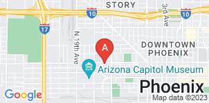 Google static map for La Paz Funeral Home, Van Buren St
