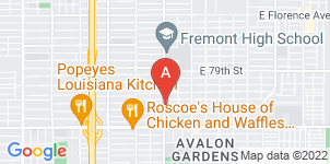 Google static map for Los Angeles Funeral Home