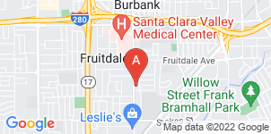 Google static map for San Jose Funeral Service
