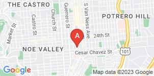 Google static map for Driscoll's Valencia Street Serra Mortuary