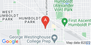 Google static map for Unique Funeral Home