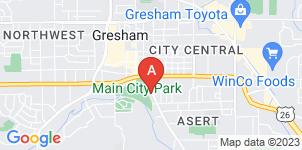 Google static map for Gresham Memorial Chapel