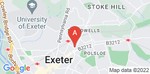 Google static map for Old Tiverton Road Funeralcare, Exeter