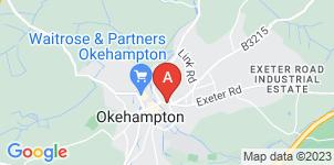 Google static map for Okehampton & District Funeral Service (inc. Redstones)