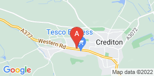 Google static map for LeRoy Funerals, Crediton