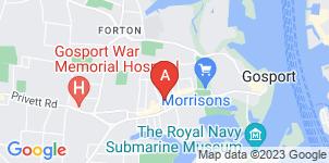 Google static map for Solent Funeral Directors, Gosport