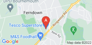 Google static map for The Co-operative Funeralcare, Ferndown