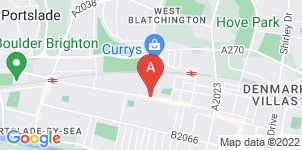Google static map for Sussex Funeral Services