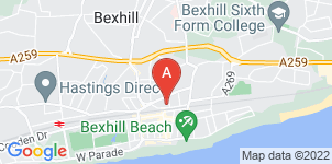 Google static map for Arthur C. Towner Ltd, Bexhill-on-Sea