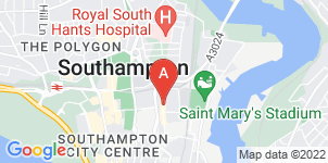 Google static map for St Mary Funeralcare (inc. R. Hallum), Southampton