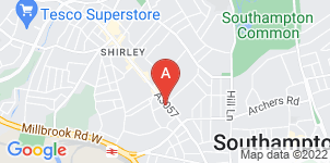 Google static map for B Matthews Funeral Directors, Shirley