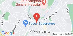Google static map for A H Rogers & Sons Funeral Services, Shirley