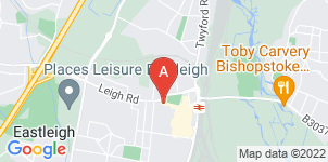 Google static map for W G Bush Funeral Directors, Eastleigh Leigh Rd