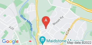 Google static map for Sears Funeral Directors, Maidstone Thornhill Place