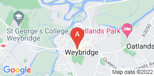 Google static map for Frederick W Chitty & Co. Funeral Directors, Weybridge