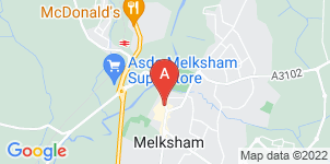 Google static map for D J Bewley Funeral Directors, Melksham