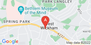 Google static map for The Co-operative Funeralcare, West Wickham