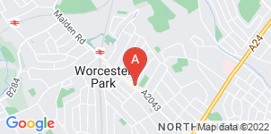 Google static map for Frederick W Paine Funeral Directors, Worcester Park