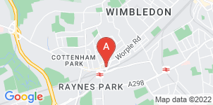 Google static map for Frederick W Paine Funeral Directors, Raynes Park