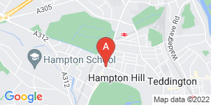 Google static map for Frederick W Paine Funeral Directors, Hampton Hill