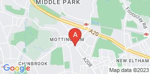 Google static map for F.A. Albin Mottingham