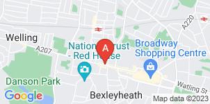 Google static map for P L Mulligan Funeral Directors, Bexleyheath