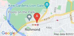 Google static map for T H Sanders & Sons Funeral Directors, Richmond Kew Rd