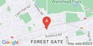 Google static map for Gilderson & Sons Funeral Director, Woodgrange Rd
