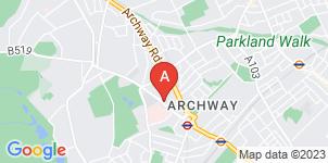 Google static map for Harrison Funeral Home, Highgate