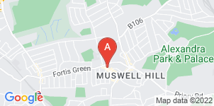 Google static map for Cooksey & Son Funeral Directors, Muswell Hill