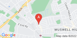 Google static map for The Co-operative Funeralcare, East Finchley