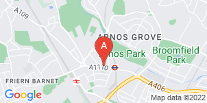 Google static map for A Seaward & Sons Funeral Directors. New Southgate