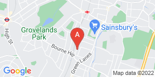 Google static map for A Seaward & Sons Funeral Directors, Palmers Green