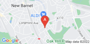 Google static map for Brooks Funerals