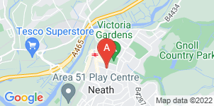 Google static map for Neath Funeral Service