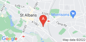 Google static map for Phillips Funeral Directors, St Albans