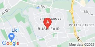 Google static map for F.J Pinnock & Son Funeral Directors, Harlow