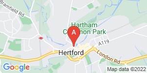 Google static map for Austins Funeral Service, Hertford