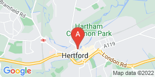 Google static map for Austins Funeral Service, Hertford
