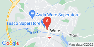 Google static map for Austins Funeral Service, Ware