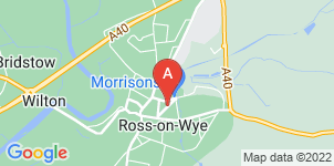 Google static map for Abbotsfield Funeral Directors, Ross-on-Wye