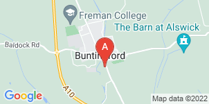 Google static map for Austin's Funeral Service, Buntingford
