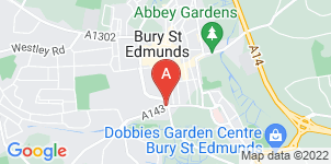 Google static map for Meredith Greengrass Funeral Service, Bury Saint Edmunds