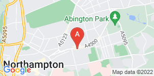 Google static map for Abington Funeral Services